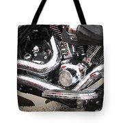 Harley Engine Close-up Rain 2 Tote Bag
