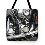 Harley Engine Close-up Rain 3 Tote Bag