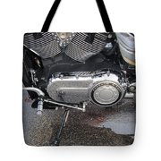 Harley Engine Close-up Yellow Line Tote Bag