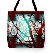 Harmonious Colors - Red White Turquoise Tote Bag