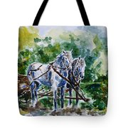 Harnessed Horses Tote Bag