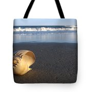 Harp Shell On Beach Tote Bag