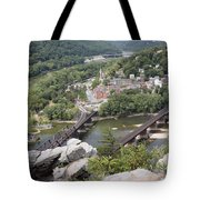 Harpers Ferry Viewed From Maryland Heights Tote Bag