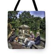 Harpist - Central Park Tote Bag