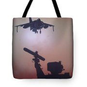 Harrier On Finals Tote Bag