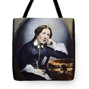 Harriet Beecher Stowe (1811-1896). American Abolitionist And Writer. Oil Over A Daguerrotype, C1852 Tote Bag