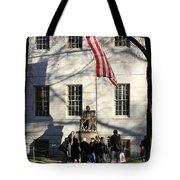 Harvard Statue Tote Bag