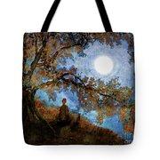 Harvest Moon Meditation Tote Bag