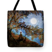 Harvest Moon Meditation Tote Bag