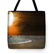 Harvest Moon On The Beach Tote Bag