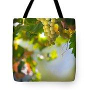 Harvest Time. Sunny Grapes V Tote Bag