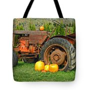 Harvest Tractor Tote Bag