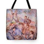 Harvesters Breakfast Tote Bag by Pierre-Auguste Renoir