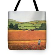 Harvesting In The Cotswolds Tote Bag
