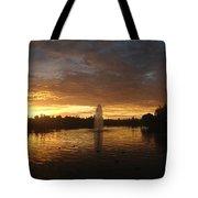 Harveston Lake Sunset Tote Bag
