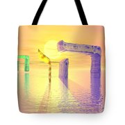 Face Of God Hovering Above The Waters Tote Bag