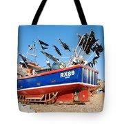 Hastings Fishing Boat Tote Bag