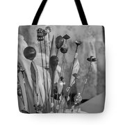Hat Pins Black And White Tote Bag