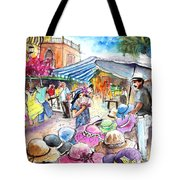 Hat Shopping At Turre Market Tote Bag