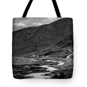 Hatcher's Pass In Black And White Tote Bag
