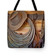 Hats And Chaps Tote Bag