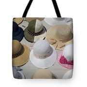 Hats For Sale Next To Marina, Lerici Tote Bag