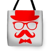 Hats Glasses And Mustache Poster 3 Tote Bag by Naxart Studio