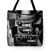 Hats Or Boots Bw Tote Bag