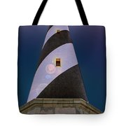 Hatteras Lighthouse At Night Tote Bag
