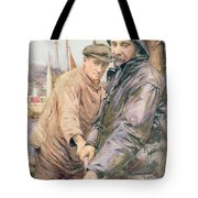 Hauling In The Net Tote Bag by Henry Meynell Rheam
