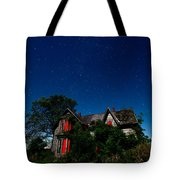 Haunted Farmhouse At Night Tote Bag by Cale Best