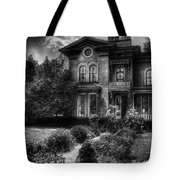 Haunted - Haunted House Tote Bag by Mike Savad