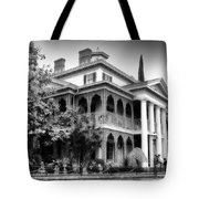Haunted Mansion New Orleans Disneyland Bw Tote Bag
