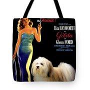 Havanese Art - Gilda Movie Poster Tote Bag