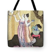Have You Had A Good Dinner Jacquot? Tote Bag by Georges Barbier