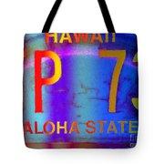 Hawaii Aloha State Tote Bag
