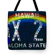 Hawaii License Plate Tote Bag