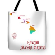 Hawaii State Map Collection 2 Tote Bag