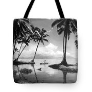 Hawaii Tropical Scene Tote Bag by Underwood Archives