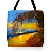 Hawaiian Coastal Sunset Tote Bag