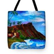 Hawaiian Homestead At Diamond Head Tote Bag