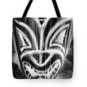 Hawaiian Mask Negative Black And White Tote Bag