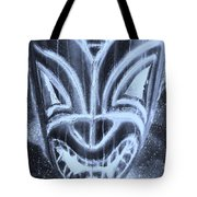 Hawaiian Mask Negative Cyan Tote Bag