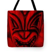 Hawaiian Red Mask Tote Bag