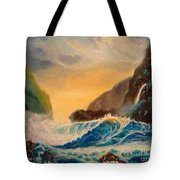 Hawaiian Turquoise Sunset   Copyright Tote Bag