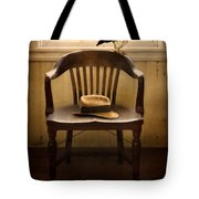 Hawk And Fedora On Chair Tote Bag