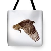 Hawk In Flight Tote Bag