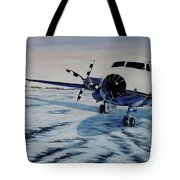 Hawker - Airplane On Ice Tote Bag