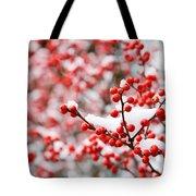 Hawthorn Berries Tote Bag