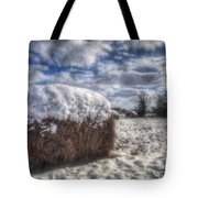 Hay Bale In The Snow Tote Bag
